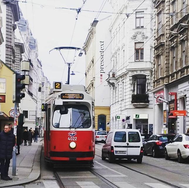 Wiener Linien tram Josefstadt Vienna Austria